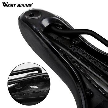 WEST BIKING Bike Saddle Silicone Cushion PU Leather Surface Silica Filled Gel Comfortable Cycling Seat