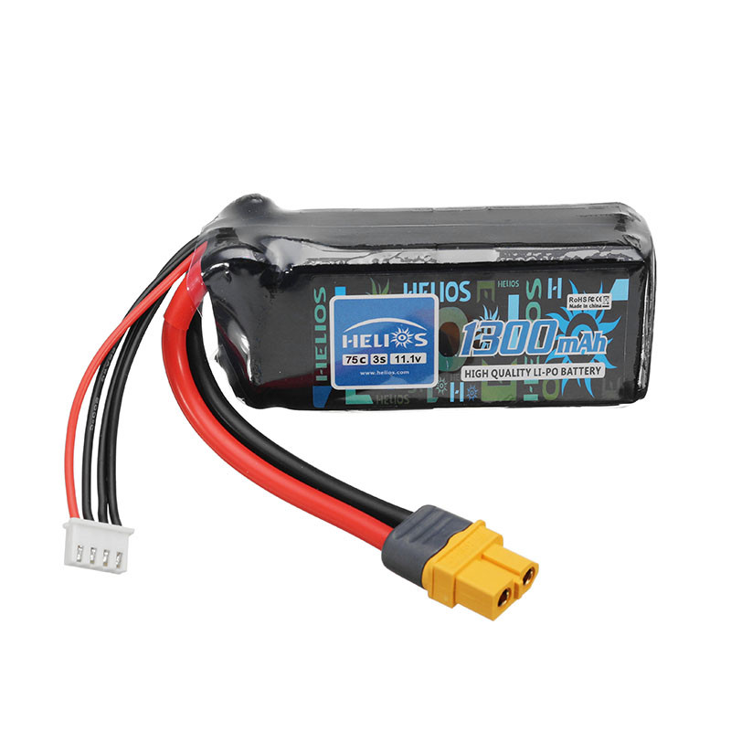 Helios 11.1V 1300mAh 75C 3S Rechargeable Lipo Battery XT60 Plug For 250 Class Quadcopter Z84 Wing Racer Helicopter Toys Parts 300 class helicopter