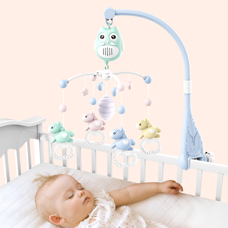 Living Stones Baby Bed Bell Musical Toys for 0-12 Months Newborn Kids Gift Mobile Crib Mobile Baby Rattle Bed Ring baby bed accessories crib musical mobile cot bell music box with holder arm baby bed hanging rattle music toys newborn gift
