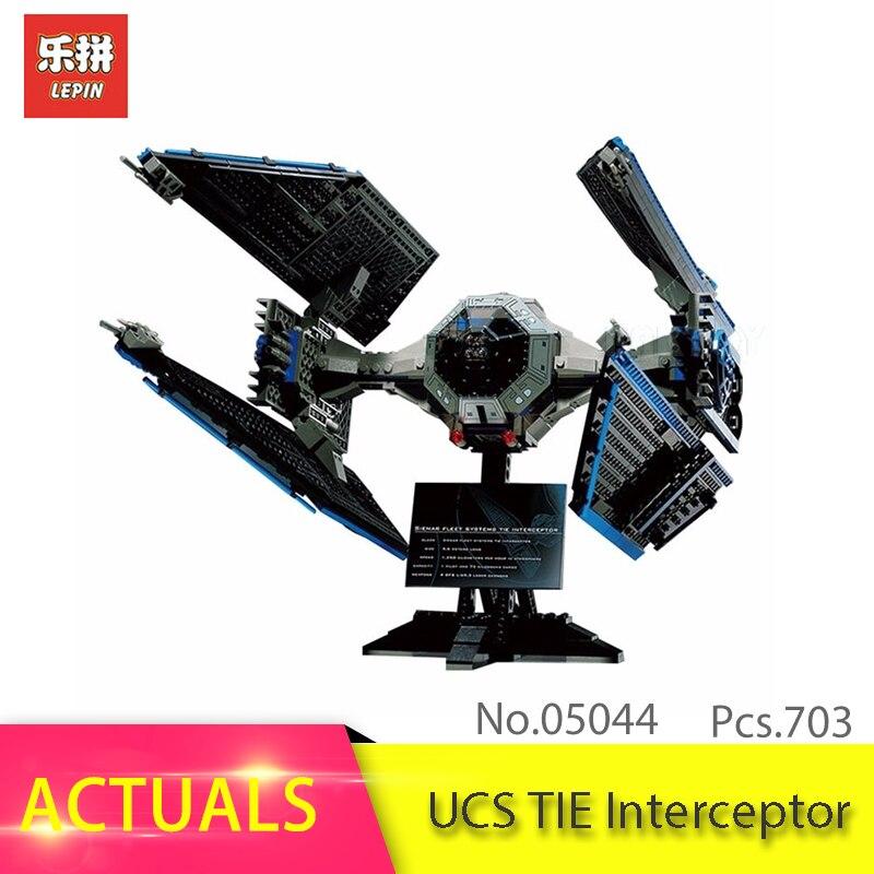 В наличии Лепин 05044 703 шт. Star серии войны UCS галстук Interceptor Building Block кирпичи Наборы игрушки для детей подарок 7181