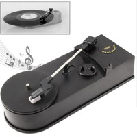 Generic Mini Retro USB Turntable Record Player with Speaker Retro Phonograph Convert Vinyl LP to MP3/WAV Plug and Play