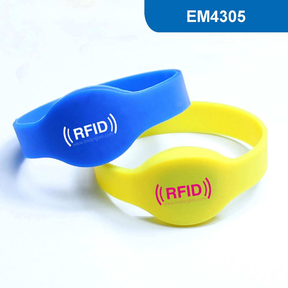 WB01 Silicone RFID Wristband RFID Bracelet for Hotel Lock Read and Write 125KHz for Access Control Card, EM4305 chip hotel lock system rfid t5577 hotel lock gold silver zinc alloy forging material sn ca 8037