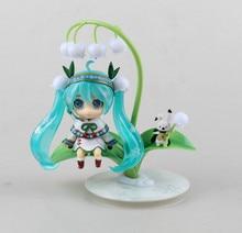 Anime Figure 10 CM Nendoroid Hatsune Miku #493 Snow Miku Snow Bell Ver. PVC Action Figure Collectible Model Toy