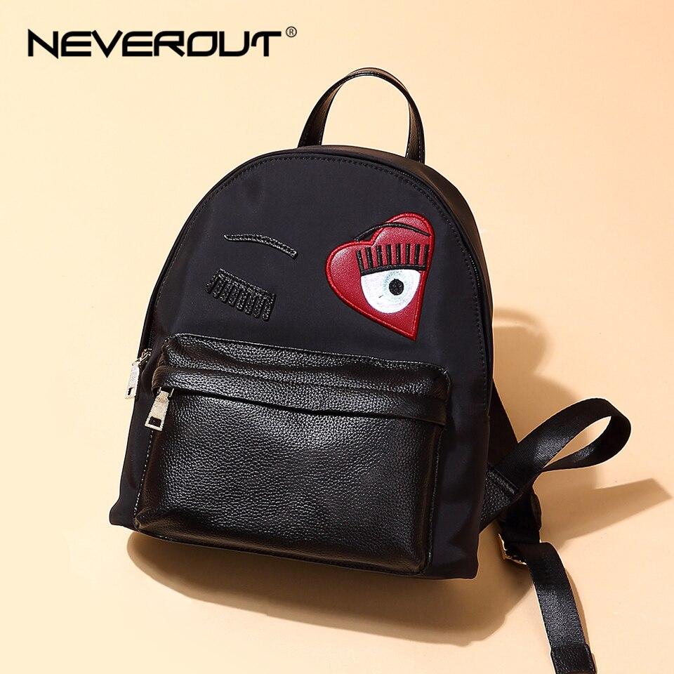 NEVEROUT femmes petit sac à dos toile sacs de voyage femme décontracté solide sacs à fermeture éclair Style dame sac à dos en cuir sacs à dos