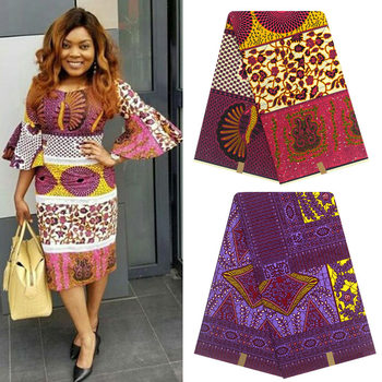 Ankara African Wax Print Fabric cotton Wax Fabric Veritable cotton Wax Hot African Ankara Fabric H9032801 1