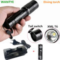 2000LM Zoomable CREE XML T6 LED Diving Flashlight Torch Waterproof Zoom Underwater Diver LED Flash Light +18650 battery/Charger