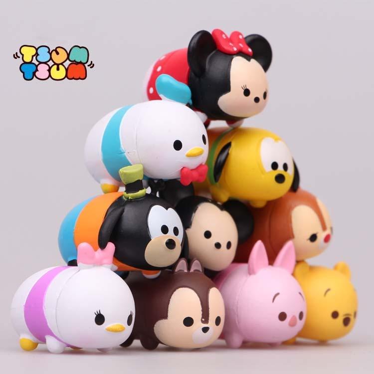 Disney Tsum Tsum 10Pcs/Lot 3.8Cm Donald Mickey Winnie Duck