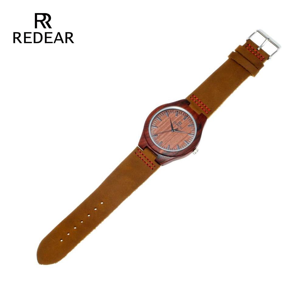 REDEAR Klasik Marka Tasarım Kırmızı Sandal Saatler Hediye Olarak - Kadın Saatler - Fotoğraf 5