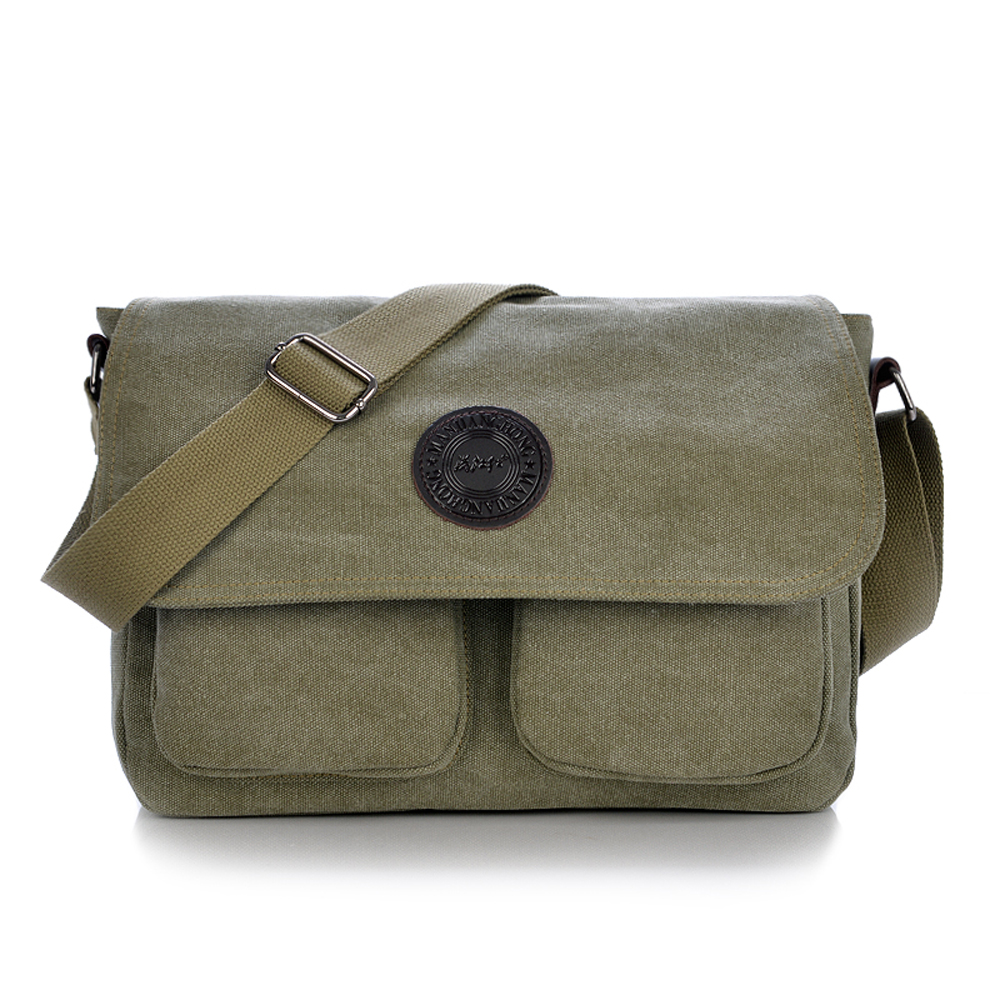 Vintage Canvas Messenger Bag Men Women Shoulder Bag Casual Sport ...