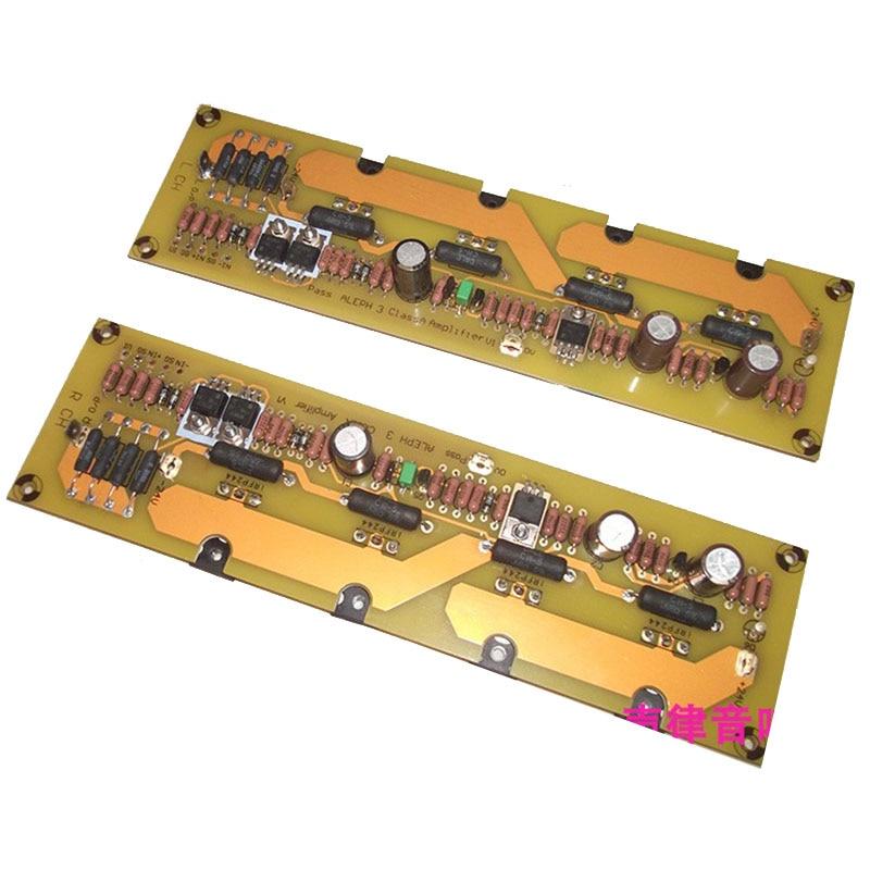 2pcs PASS A3 single-ended pure class A power amplifier board 60W*2 hifi power amplifier