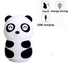 Panda LED USB Children Animal Night Light Touch Sensor Tap Control Pat Baby Kids Nursery Bedroom Besdide Decoration Lamp