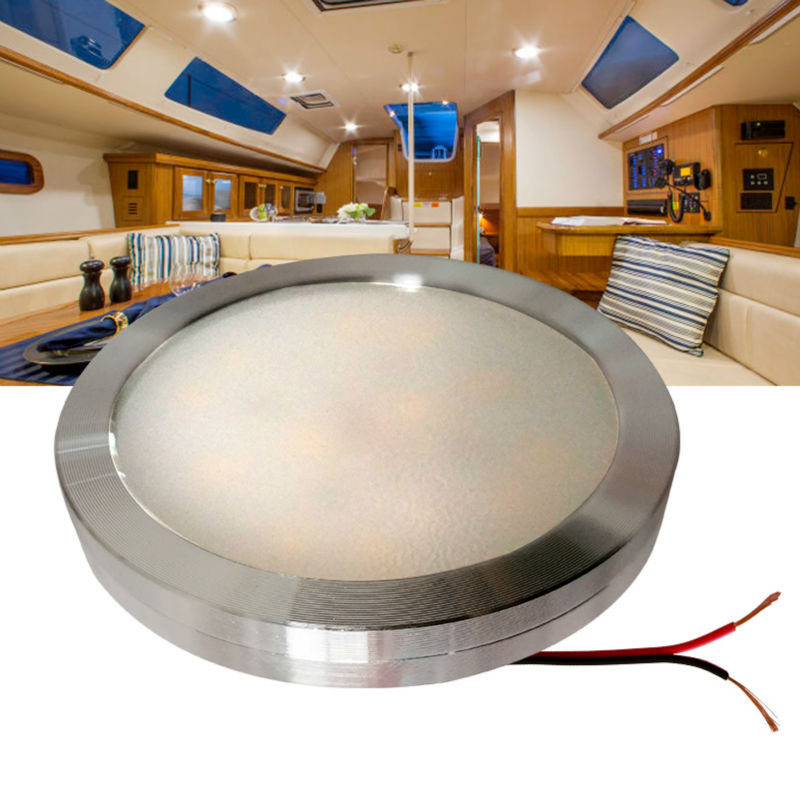 12v Dc Led Under Cabinet Light Cool White Silver Shell Caravan Rv Interior Lamp Roof Kitchen