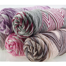 3 Pcs / Lot Mixed Color Baby Cotton Yarn Natural Soft Milk Thick For Knitting Wool Crochet Weave Thread by Hand Work