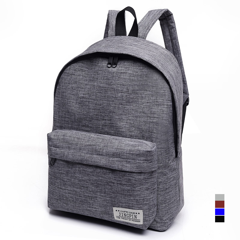 Bacisco Canvas Backpack Women Men Large Capacity Laptop