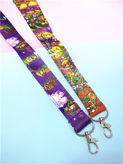 Legend of Zelda Toon Link Yellow Lanyard Keychain Keyring ID Badge Holder NEW