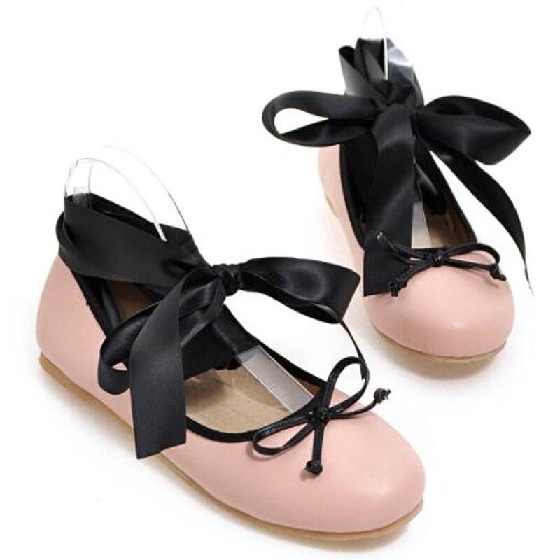 Tamaño V649 leopard Agutzm Planos Mujeres Negro Zapatos Pisos 2018 34 Tobillo rosado Mujer Ballet Más Ocasionales Flats Correa 42 Del Print Para TqAtwq
