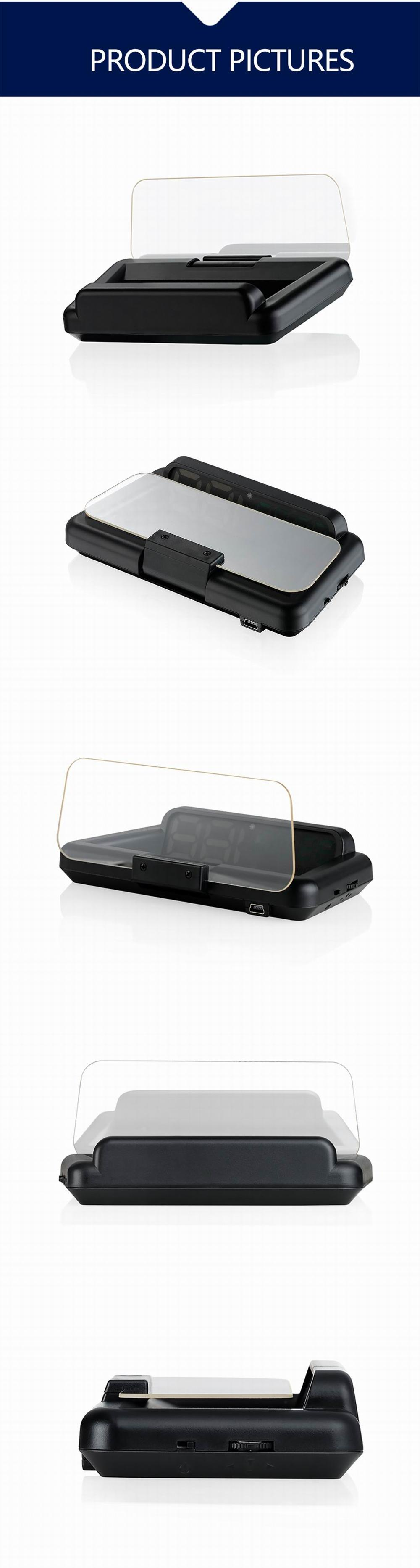 Original VJOYCAR C500 OBD2 Hud T900 GPS Head Up Display Projector Digital Car Speed Projector On-Board Computer Fuel Mileage 27