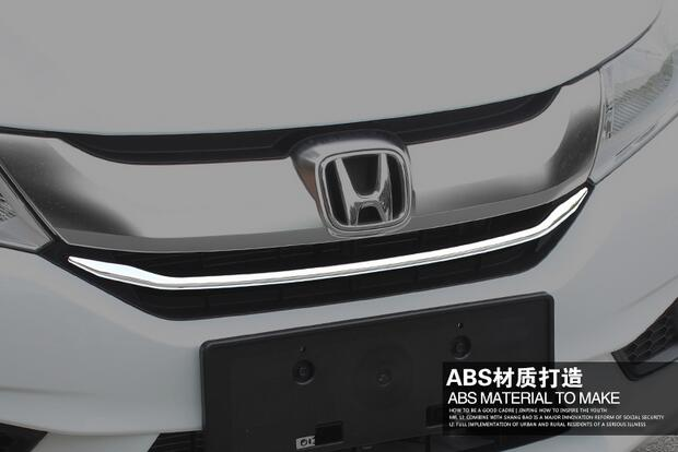 Higher star ABS chrome 2pcs(up grill trim+ lower grill trim)grill decoration trim,grill streamer For Honda City 2015-2017 high quality chrome rear trunk streamer for honda jazz fit 09 up free shipping brand new