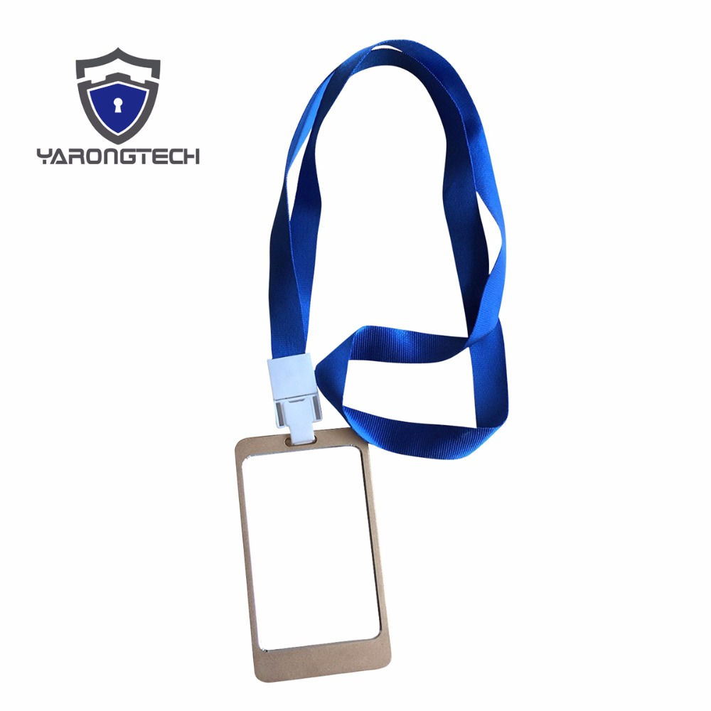2016 New aluminium alloy employee worker ID Card Holder with Lanyard aj gross employee dismissal law – forms
