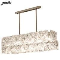 jmmxiuz Modern luxury crystal chandelier new design chrome frame chandelier crystal restaurant living room LED bar light