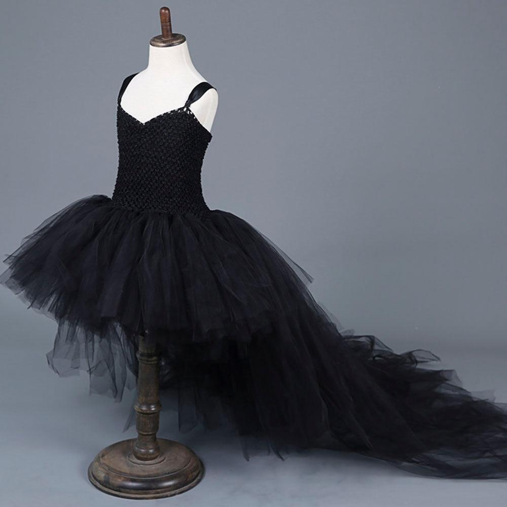Elegante Schwarz Mädchen Einhorn Tutu Kleid Baby Mädchen V ...