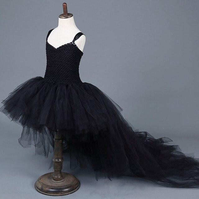 6f8a176ece Straszny czarny dziewczyna czarownica Tutu sukienka dla dzieci dziewczyny  kot zła dziewczyna Cosplay piętro pociąg sukienka
