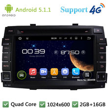 Quad Core 7″ 1024*600 2DIN Android 5.1.1 Car Multimedia DVD Player Radio USB FM BT DAB+ 3G/4G WIFI GPS Map For Kia Sorento 2011