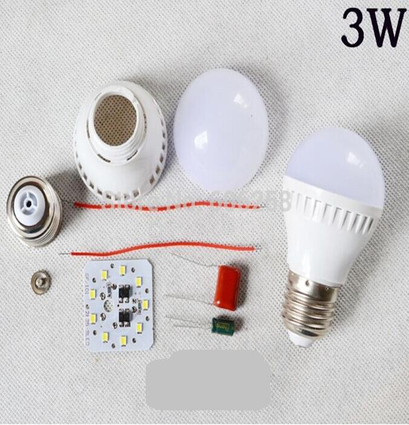 DIY 3W 2835SMD LED Bulb Kit Housing Component Parts ...