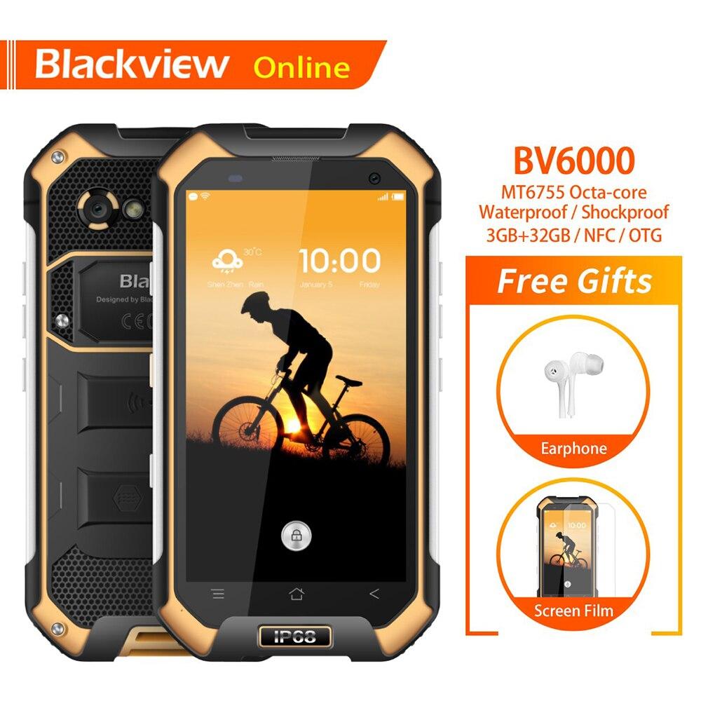 Blackview D'origine BV6000 4.7 IP68 Étanche smartphone robuste 3 GB + 32 GB Octa-Core 13.0MP Caméra Dur Heavy duty téléphone portable