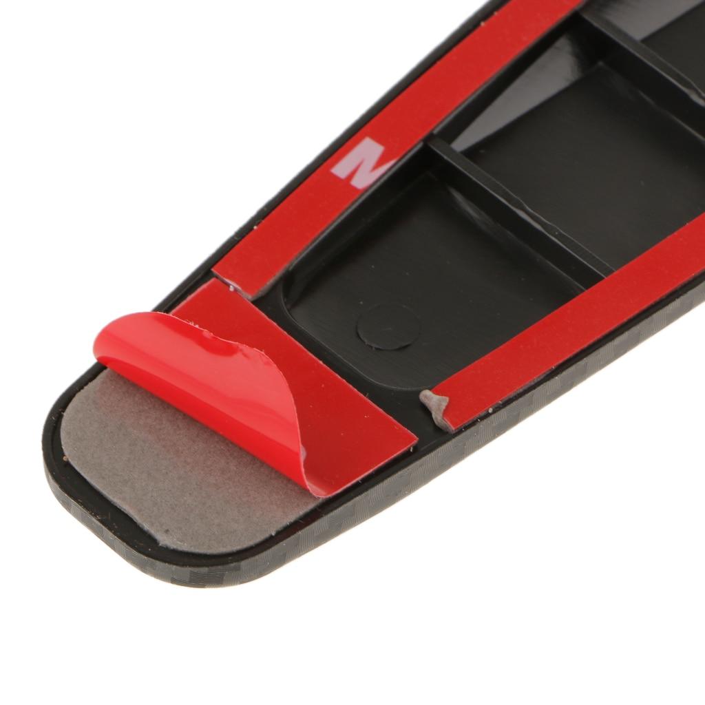 2Pieces Durable 269C Car Carbon Fiber Protector Anti Crash Bumper Guard Strip Sticker Accidente de coche bar accident de voiture