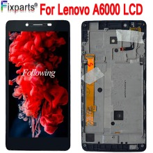 For Lenovo A6000 LCD Display Touch Screen Digitizer Assembly With Frame For Lenovo A6000 lcd Replacement for lenovo a536 lcd display with touch screen digitizer frame assembly black by free shipping 100