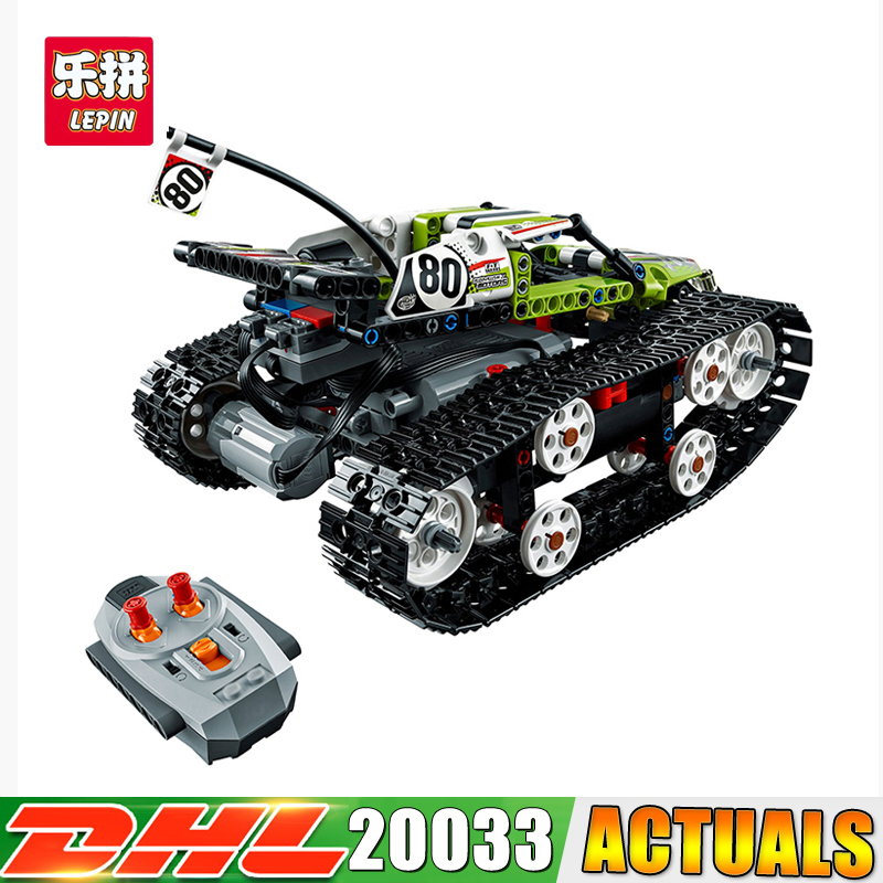 2018 Lepin 20033 Technic Series The RC Track Remote-control Race Car Set Building Blocks Bricks Educational Children 42065 Toys glow race track bend flex glow in the dark assembly toy 112 160 256 300pcs slot race track 1pc led car puzzle educational toys