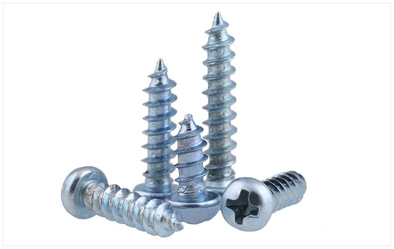 Carbon steel Round head self-tapping screws M4 M5 M6 screws zinc PA screws hard-plated blue zinc