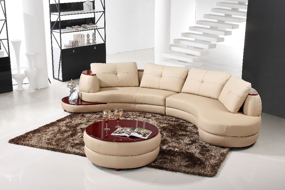 Modern corner sofa set living room furniture leather sofa - Corner tables for living room online ...