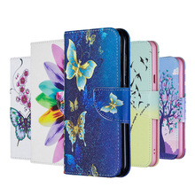 2019 Painted Leather Flip Case For Xiaomi Redmi Note 7 Pro 6 5 5A 4 X 7S Wallet Book Cover MI 9T Coque<