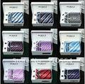 Atacado grátis frete venda quente laço de alta qualidade define gravata abotoaduras + + lenço + tie clip + caixa de presente + gift bag