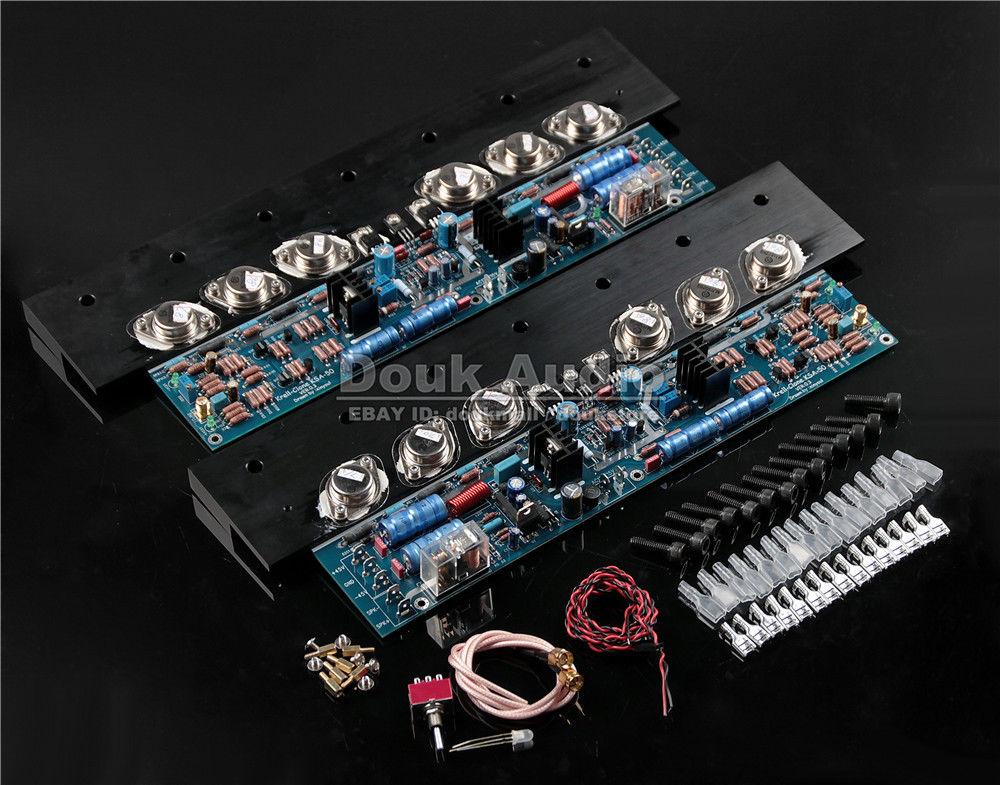Douk Audio Dual 2.0 Channel Class A / Class AB Power Amplifier HiFi Amp Board assembled mt 150 150w class a ab power amplifier board no heatsink