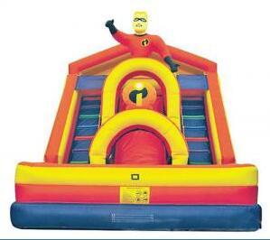 Comercial ao ar livre corrediça inflável para crianças e adultos