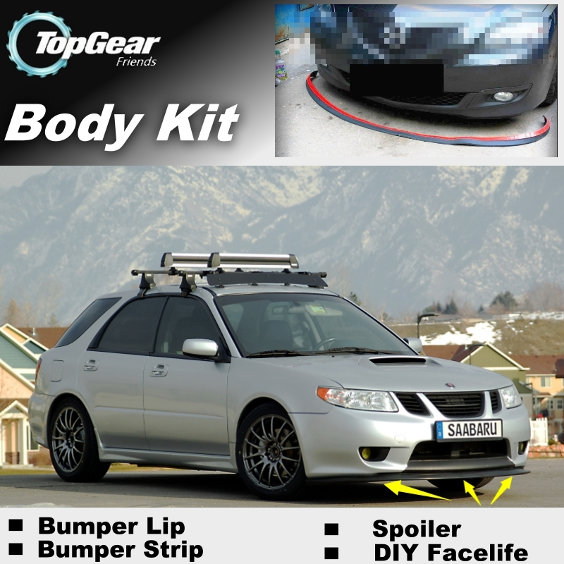 Lèvres de déflecteur de lèvre de pare-chocs pour Saab 9-2X 2004 2005 jupe de Spoiler avant pour TG amis à voiture vue de réglage/Kit de corps/bande