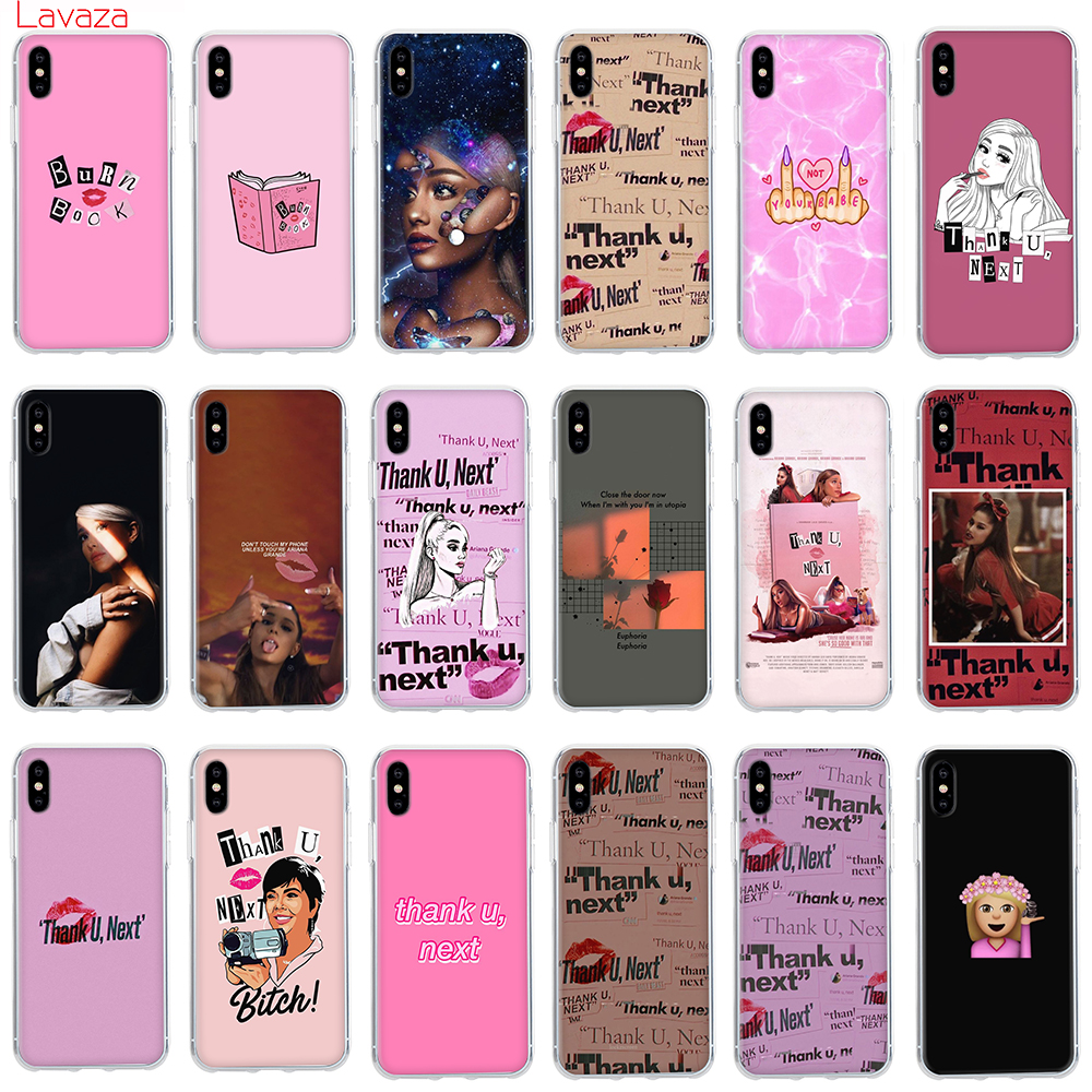 Lavaza <font><b>Ariana</b></font> <font><b>Grande</b></font> Thank U Next Hard <font><b>Case</b></font> for Apple <font><b>iPhone</b></font> 6 <font><b>6s</b></font> 7 8 Plus X 5 5S SE Cover for <font><b>iPhone</b></font> XS Max XR Cover image