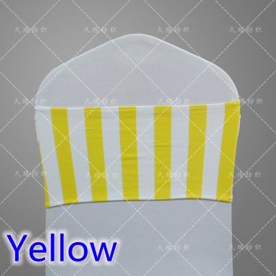 Yellow Colour Elastic Lycra Chair Sash Wedding Spandex Stretch Chair Band  Fit All Chair Covers,