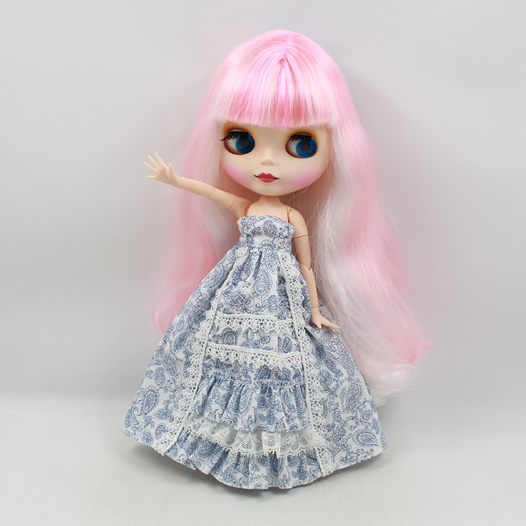 Blyth Nude Doll For Series No.280BL136101062271215 Joint body pink mix blue Hair Suitable For DIY Change BJD Toy For Girls все цены