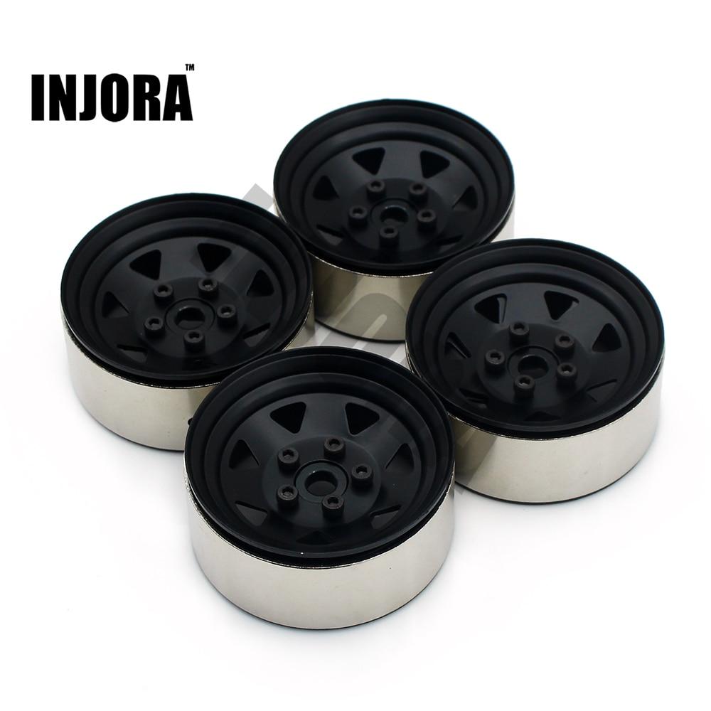 4PCS RC Crawler 1:10 Alloy Wheel Rim 1.9 Inch BEADLOCK For 1/10 Traxxas TRX-4 Axial SCX10 AX103007 TAMIYA CC01 D90 D110