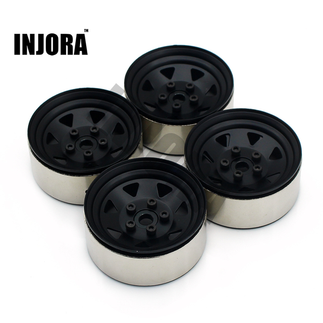 4PCS RC Crawler 1:10 Alloy Wheel Rim 1.9 Inch BEADLOCK for 1/10 Traxxas TRX-4 Axial SCX10 TAMIYA CC01 D90 D110