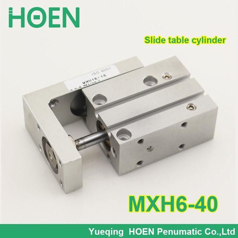 цена на MXH6-40 MXS MXQ MXH serise Air Sliding Table Slide Table Pneumatic with 6mm bore 40mm stroke MXH6*40 MXH6X40