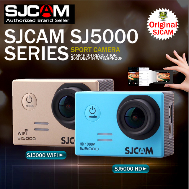 SJCAM sj5000 Series SJ5000 & SJ5000 WiFi 14MP Sports Action Camera Waterproof 1080P Full HD Sport DV Camera