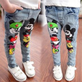 Girl's Jeans Pants Toddler Girls denim Pants trousers Long pants Mickey Minnie Children Long pants Retro vintage style