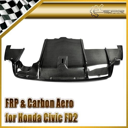 Автомобиль Стайлинг для Honda Civic fd2 углерода Волокно чувствует себя Стиль задний диффузор под дном