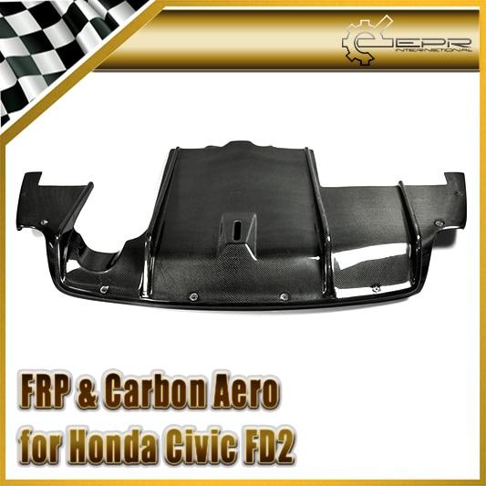 Car-styling For Honda Civic FD2 Carbon Fiber Feels Style Rear Diffuser Under Bottom