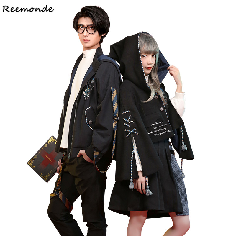 Adult Ravenclaw College Cosplay Costumes Hermione Cloak Jackets Skirt Shirt For Women Girl Boys Party School Of Magic Clothes